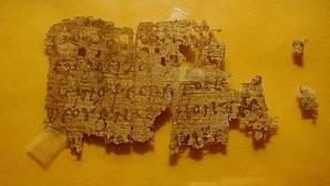 El fragmento de papiro que salió a la venta en eBay