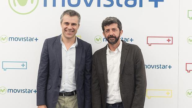 Domingo Corral,director de producción original de Movistar+, y Alberto Rodríguez, director de «La peste»