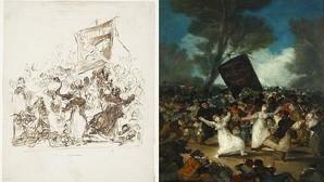 Goya edulcoró «El entierro de la sardina»