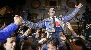 Juan José Padilla, primera Puerta del Príncipe de la Feria de Abril