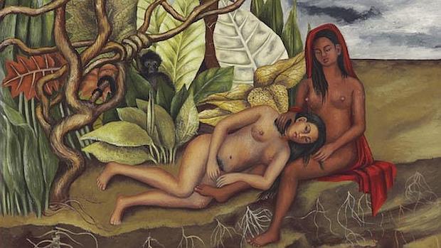 «Dos desnudos en el bosque (La tierra misma)», de Frida Kahlo