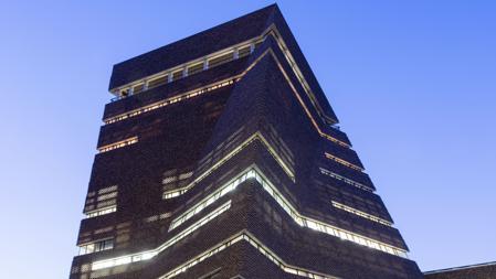 Imagen de la pirámide de la nueva Tate Modern