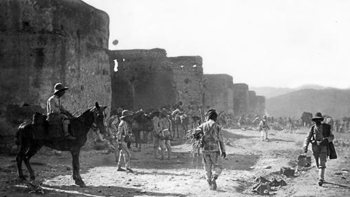 Aspecto exterior de la alcazaba de Zeluán en 1909