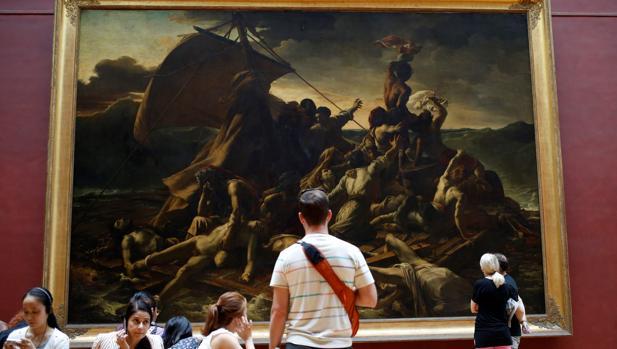 «La balsa de la Medusa» de Géricault, en el Museo del Louvre