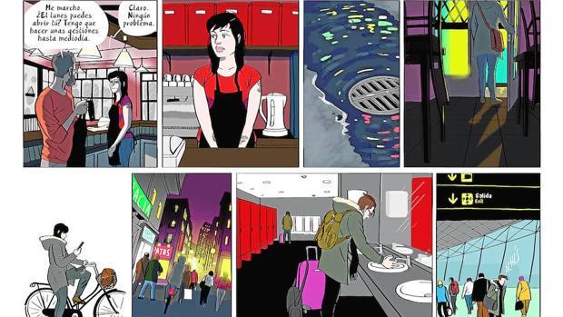 Una página de «El mundo a tus pies», de Nadar, publicado por Astiberri
