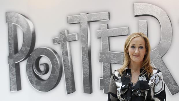 J. K. Rowling en la presentación de la web Pottermore en Londres
