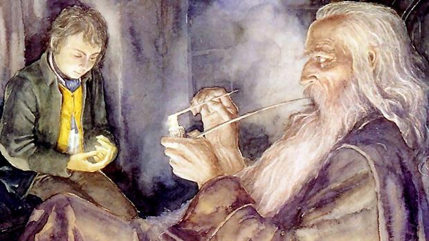 Frodo y Gandalf vistos por Alan Lee, el ilustrador más famoso de la obra de Tolkien