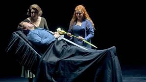 Un momento de la representación de «Tristán e Isolda» en Bayreuth