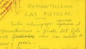 La BNE adquiere 1.700 manuscritos originales de Ramón Gómez de la Serna