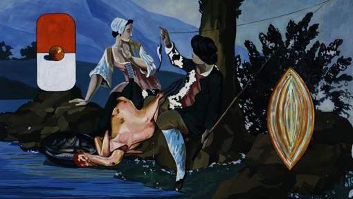 «Fishing», de David Salle