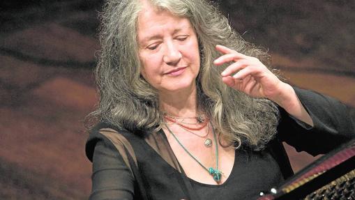 La pianista argentina Martha Argerich