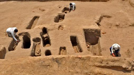 Tumbas del Proyecto Arqueológico Chotuna-Chornancap en Perú