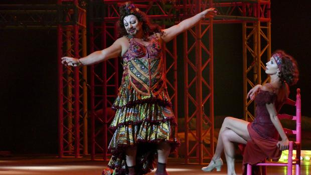Antonio Canales, durante su interpretación en Lisístrata