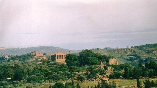 El Valle de los Templos, donde supuestamente se encuentra el teatro greco-romano