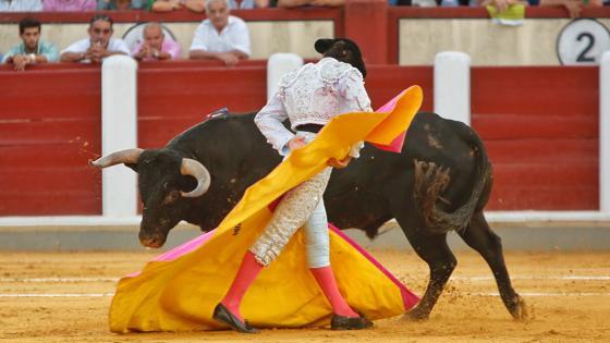Garrido, torerísimo con el capote