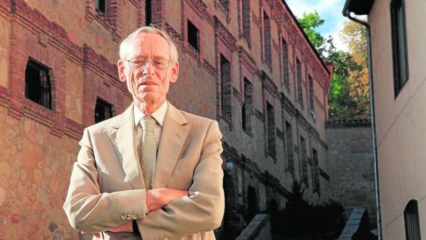 El historiador John Elliott en Segovia, tras la entrevista con ABC