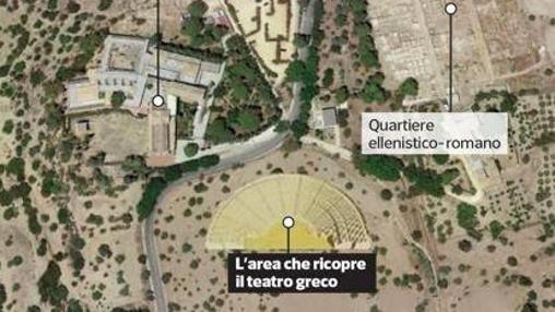 Localización del templo greco-romano de Agrigento
