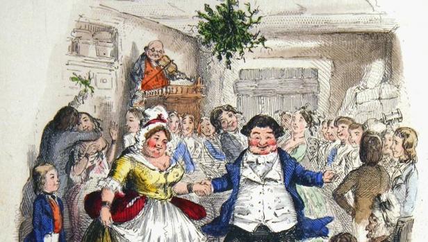 Dickens fue una de las primeras lecturas de AiraI. Ilustración de John Leech incluida en la primera edición de «Cuento de Navidad» (1843), del escritor británico