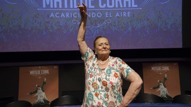 Matilde Coral en el homenaje de este martes