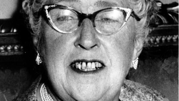 Agatha Christie, fotografiada en 1956