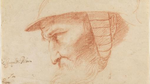 «Cabeza de guerrero», de José de Ribera. Sanguina