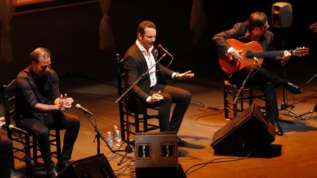 El cantaor Jesús Méndez, ayer durante su actuación en el Teatro Central