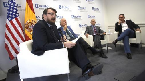 Daniel Ureña (i), Borja Cardelús (2i), Manuel Olmedo (2d) y Julio Cañero (d)