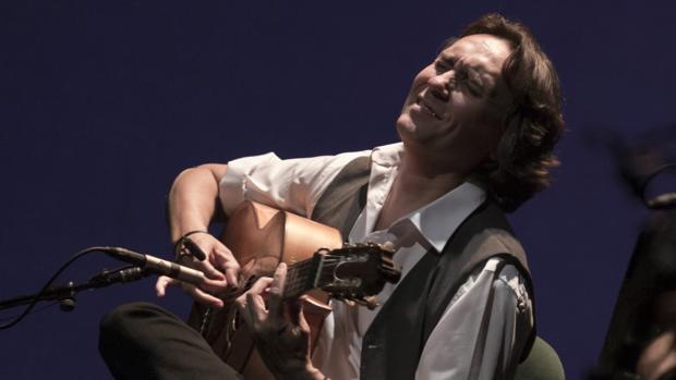 Vicente Amigo en concierto, para la XIX Bienal de Flamenco, en el Teatro de la Maestranza