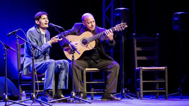 Antonio Agujetas, durante un momento de su actuación