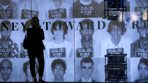 Activistas negros detenidos durante las lucha por los derechos civilies