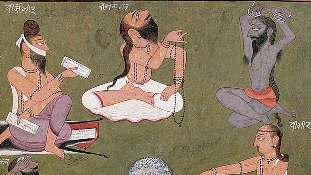 Detalle de Los siete «saptarsi» (sabios), ilustración del «Rgveda», uno de los textos que estudia Calasso