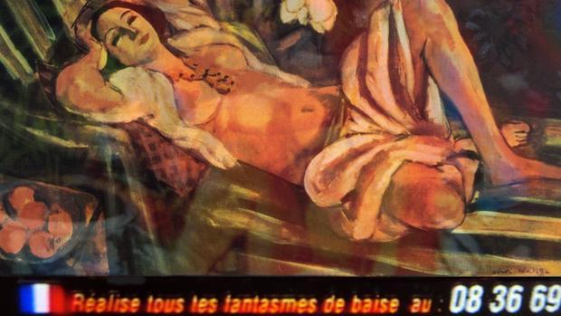 Una de las obras de López Cuenca en «Los bárbaros»