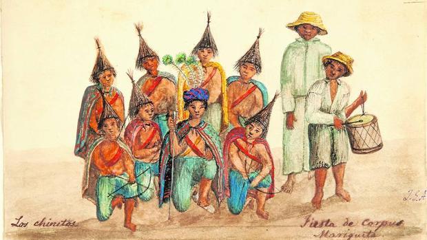 «Los chinitos. Fiesta de Corpus», una de las láminas de «Impresiones de un viaje a América»