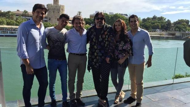 Ángel Rojas, Rafael Campallo, Javier Barón, Antonio Canales, Tamara Lucio y Alberto Sellés