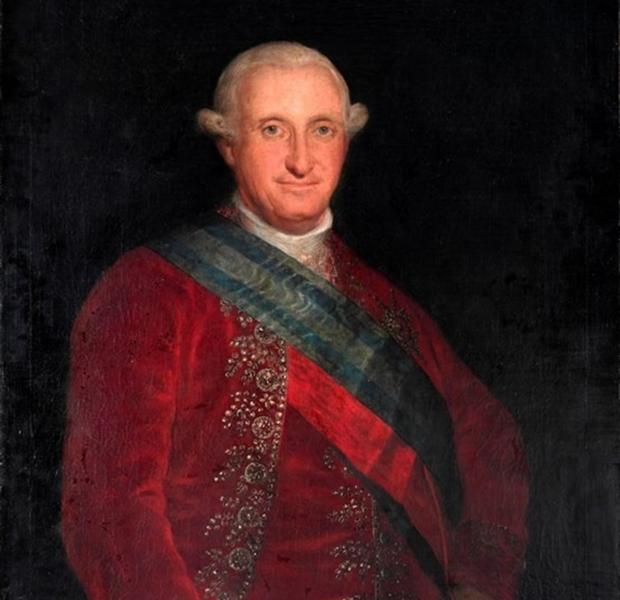 Retrato de Francisco de Goya de Carles IV realzado en 1789