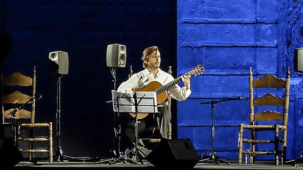 José María Gallardo, durante su homenaje a Paco de Lucía