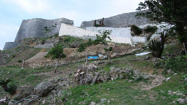 Ruinas del castillo de Katsuren, en la isla de Okinawa, donde han sido halladas las monedas de la antigua Roma