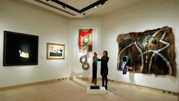 Obras de la colección durante su exposición en Christie's, de Londres