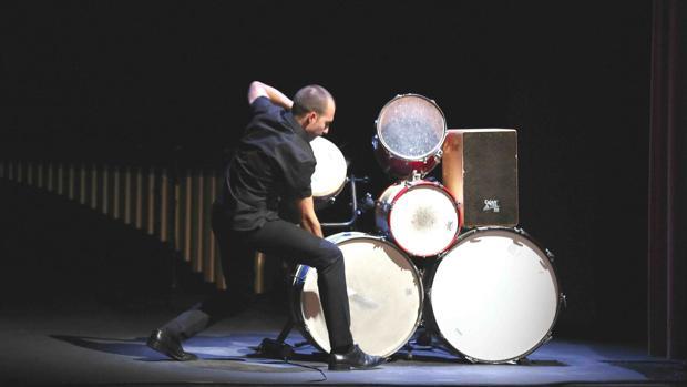 El percusionista Antonio Moreno