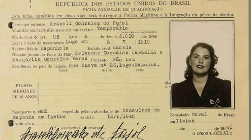 Documento desclasificado de Araceli González