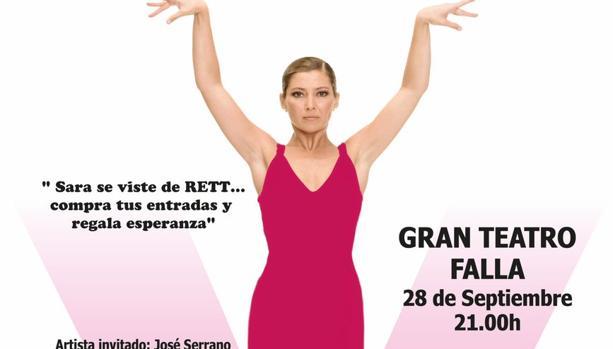 Sara Baras se viste de rosa para luchar por las princesas Rett