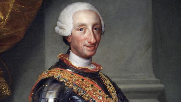 Carlos III retratado hacia 1765 por Anton Raphael Mengs
