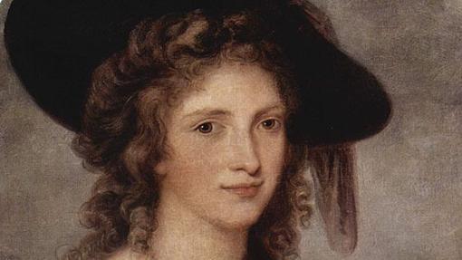 Autorretrato de Angelica Kauffmann (fragmento)