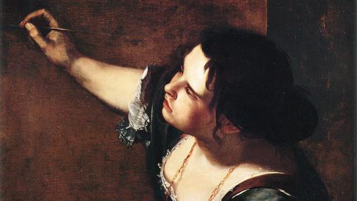 Autorretrato como alegoría de la pintura, de Artemisia Gentileschi (fragmento)