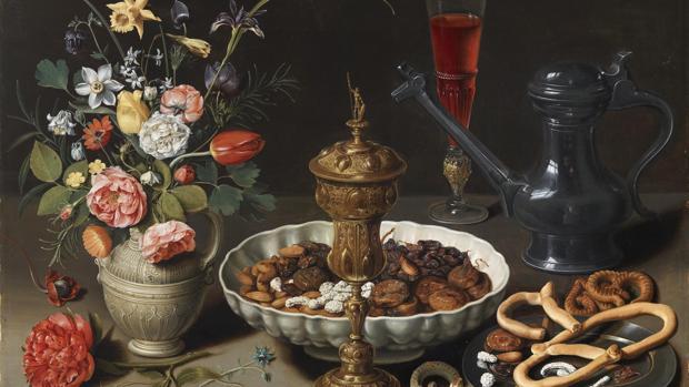 «Mesa», de Clara Peeters. La pintora se autorretrató en la jarra de la derecha
