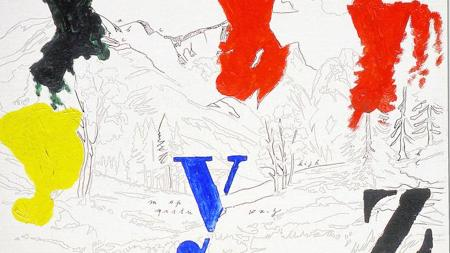 «Yz», tinta y aguada sobre tabla de 1973