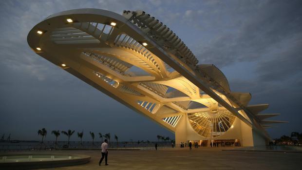 Espectacular imagen del Museo del Mañana, en Río de Janeiro