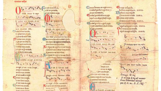 El facsímil del «Pergamino Vindel», que podrá verse hasta el 28 de octubre en la Casa de Galicia