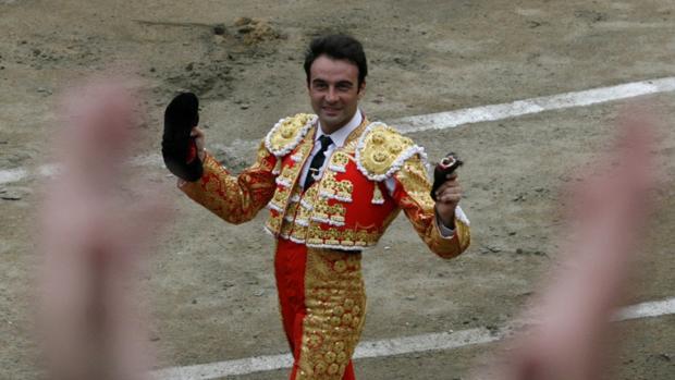 Enrique Ponce, en la plaza de Acho
