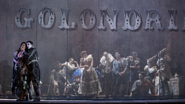 Una escena de los ensayos de «Las golondrinas»